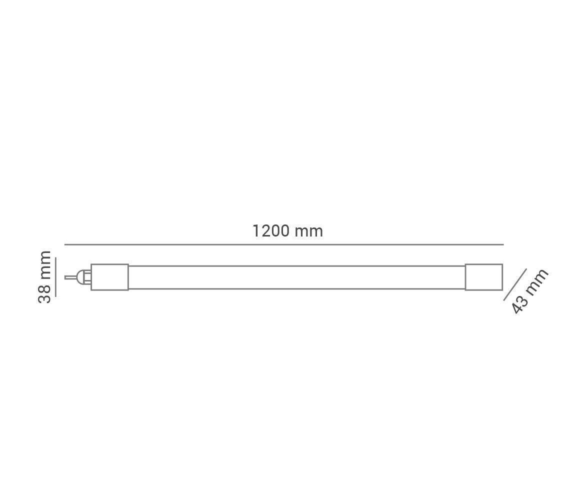 Luminária Flex Calha Hermética 36w 6500k Branco Frio 120° Bivolt Pro 32276  - OUTLED ILUMINAÇÃO