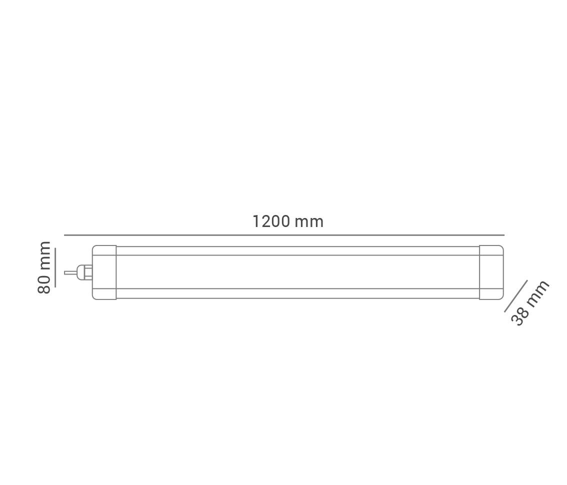 Kit 2 Luminária Flex Calha Hermética 36w 6500k Branco Frio 120° Bivolt Pro 32917