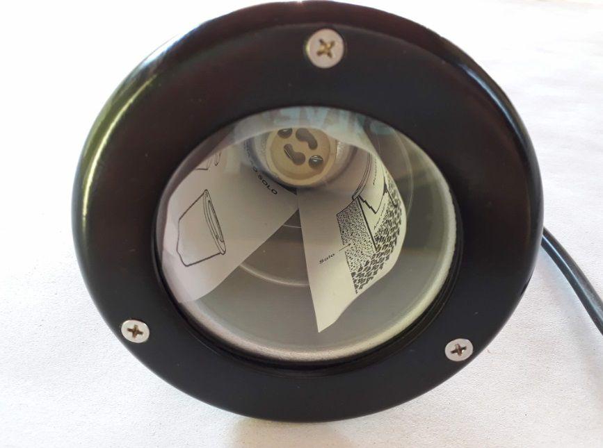 Luminaria GU10 Dicroica Projetor Embutir Solo LS208 Maxluz Preto  - OUTLED ILUMINAÇÃO
