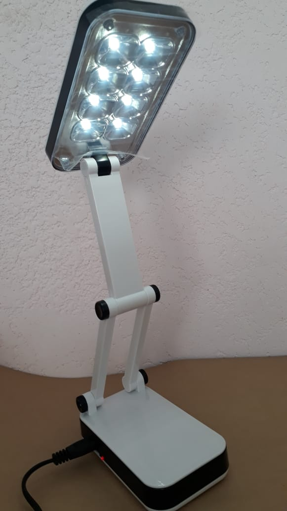 Luminaria Mesa Abajur LED Dobravel Articulada 24 Leds Recarregável Bivolt  - OUTLED ILUMINAÇÃO