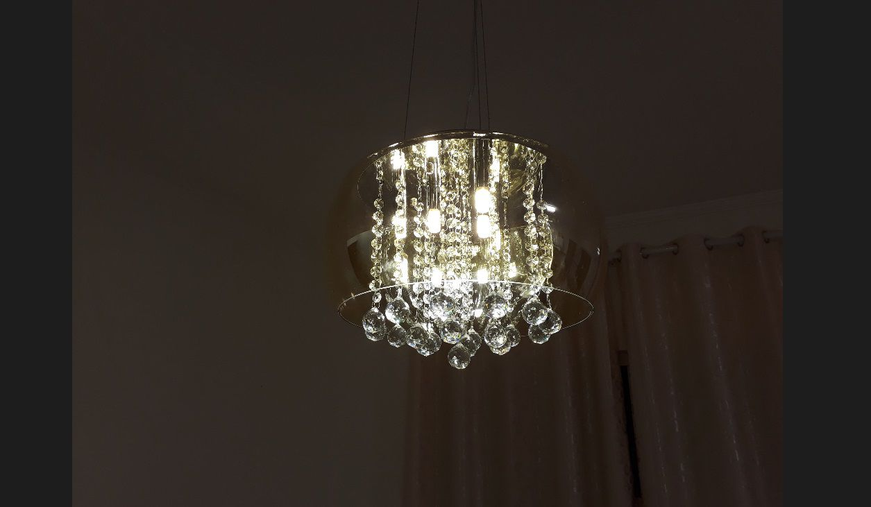 Lustre 40cm 5 lampada G9 Pendente Plafon Soho PD002AM Ambar