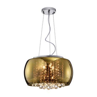 Lustre 40cm 5 Lampada G9 Pendente Plafon Soho PD002G Gold Dourado  - OUTLED ILUMINAÇÃO