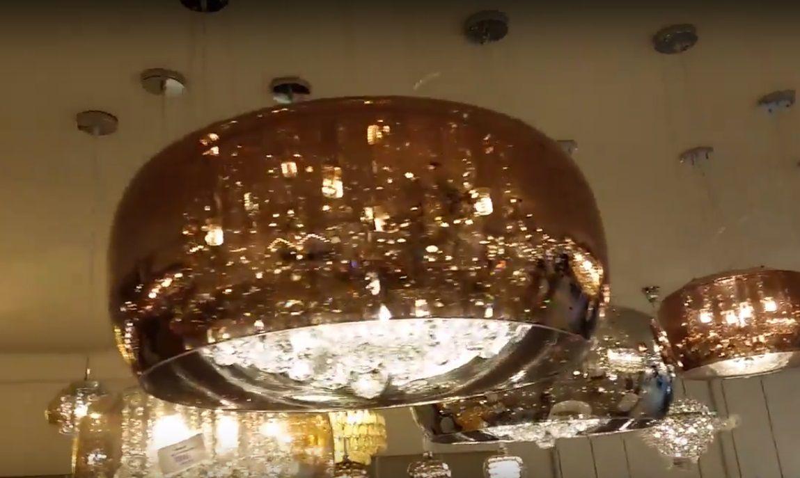 Lustre pendente Plafon 40cm Soho PD002CO Cobre  - OUTLED ILUMINAÇÃO