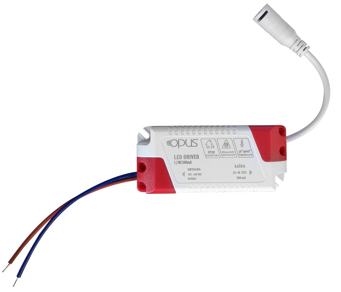 Painel de Embutir Redondo LED 12W 3000K Bivolt ECO 32368 OPUS