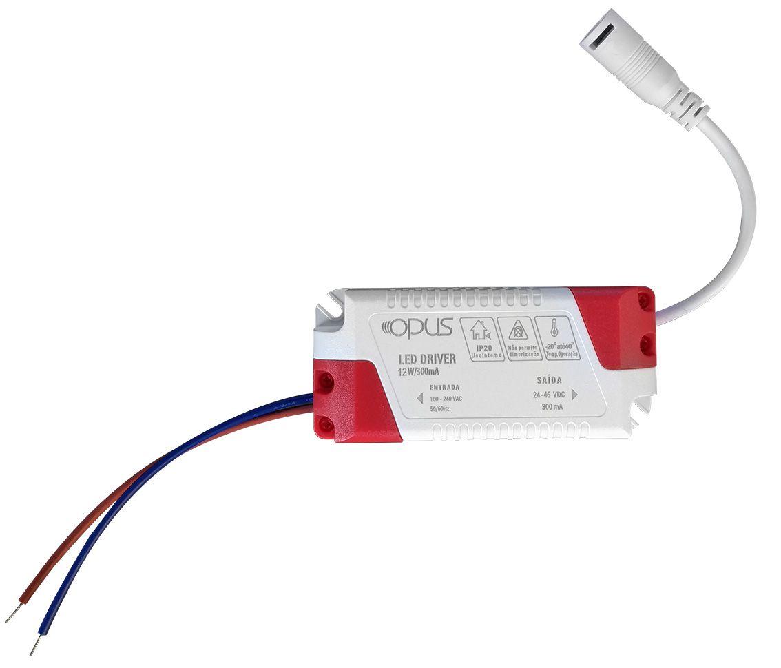 Painel de Embutir Redondo LED 12W 4000K Bivolt ECO 33433 - Opus
