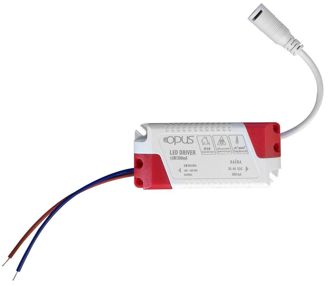 Painel Embutir Redondo 18w LED 4000k Branco Morno Ø22cm ECO 33440