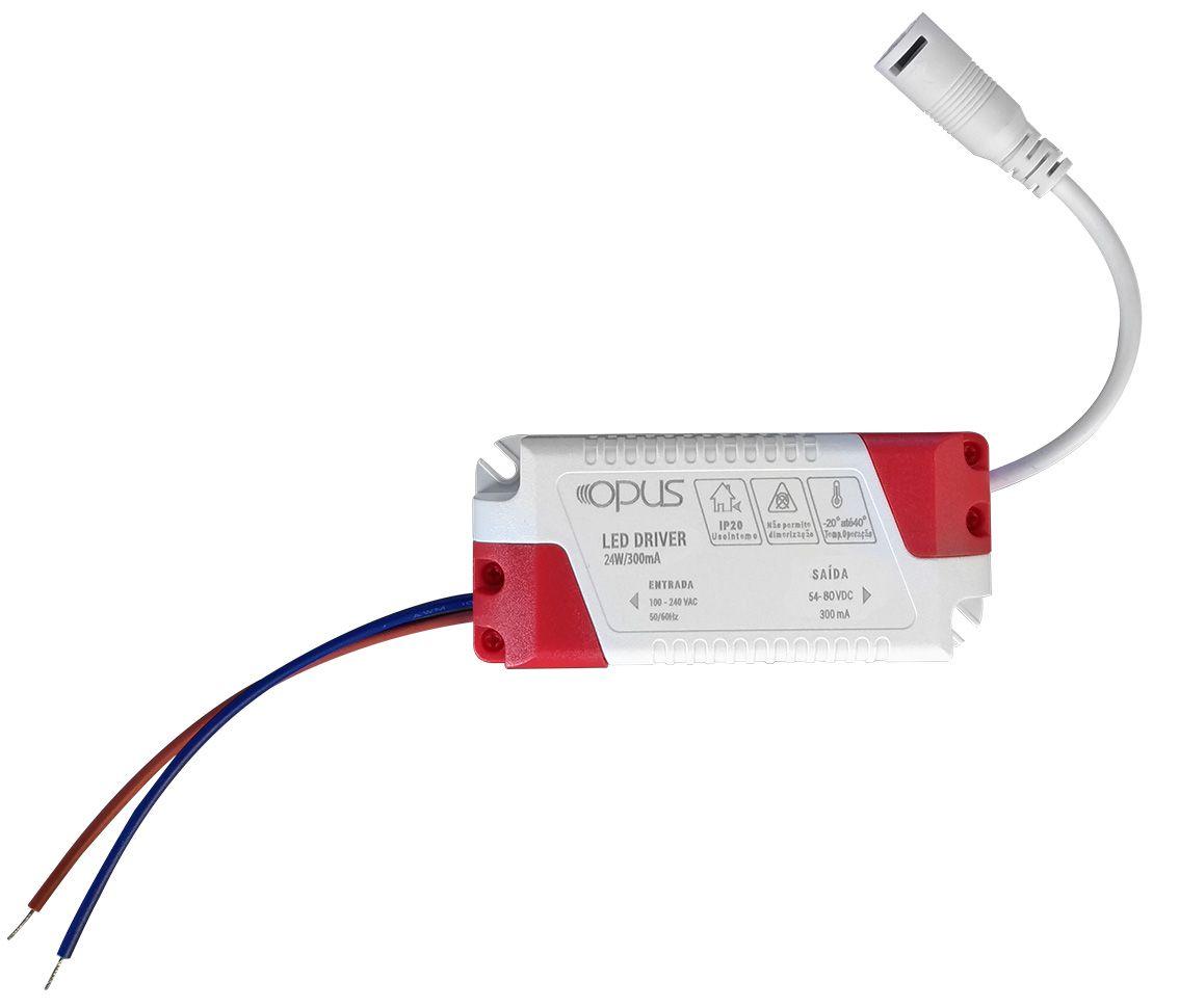 Painel de Embutir Redondo LED 24W 6500K Bivolt ECO 33860 - Opus