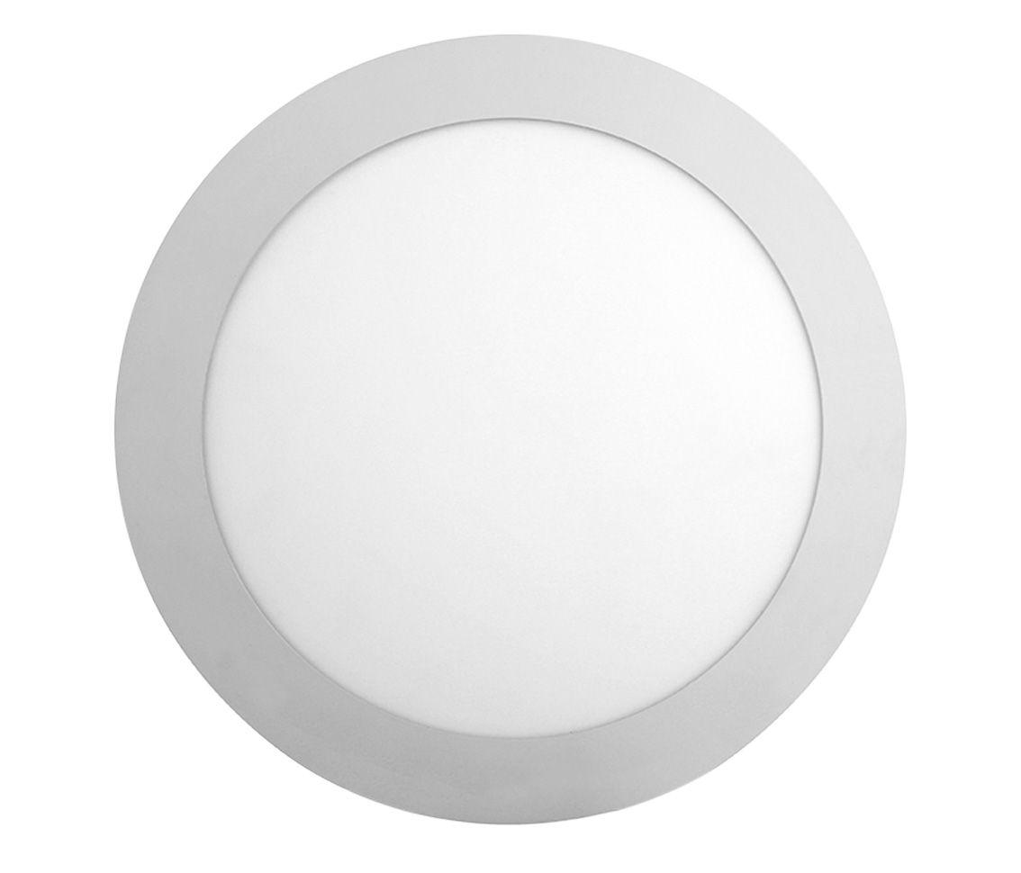 Painel Sobrepor Redondo 18w LED 6500k Branco Frio Ø21cm ECO 35628