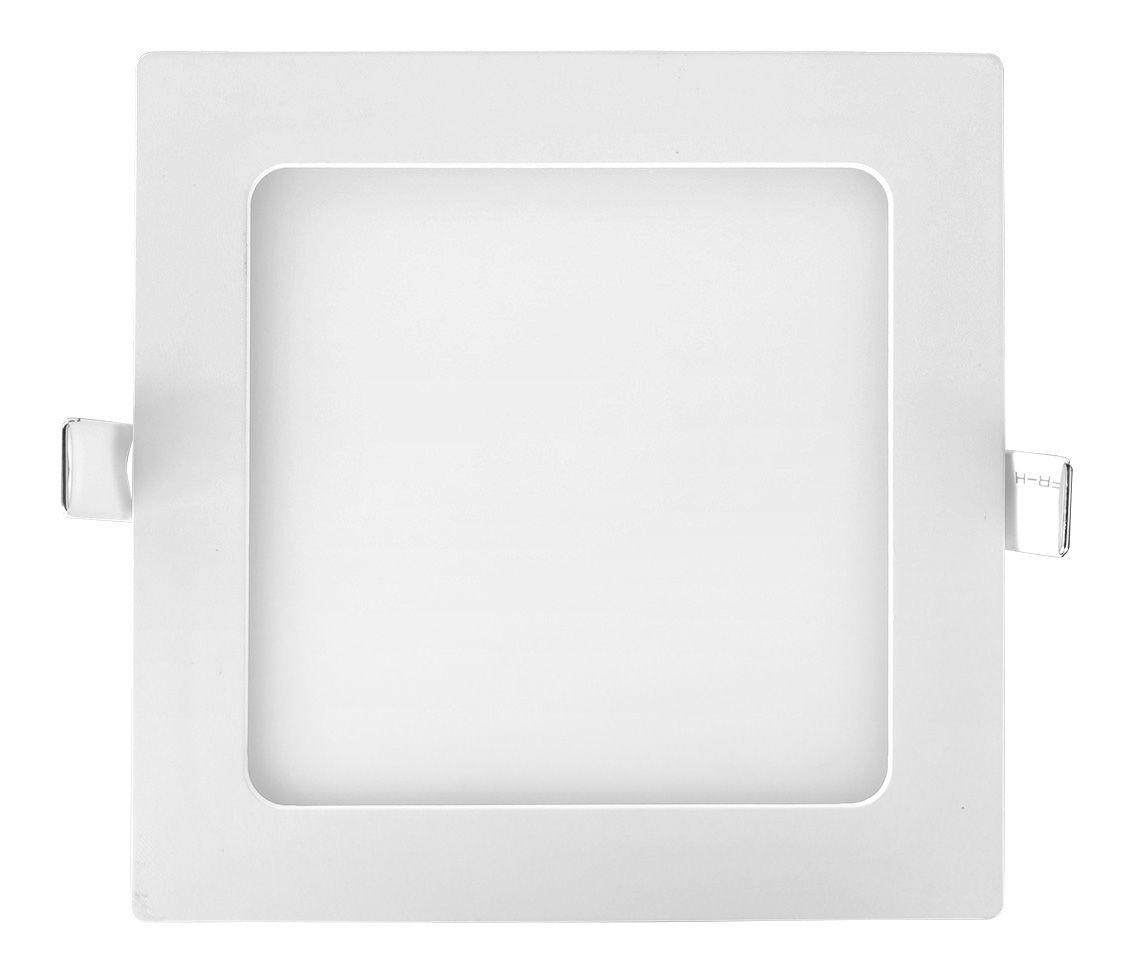 Painel Led 12w 3000k branco quente embutir quadrado bivolt ECO 32498   - OUTLED ILUMINAÇÃO