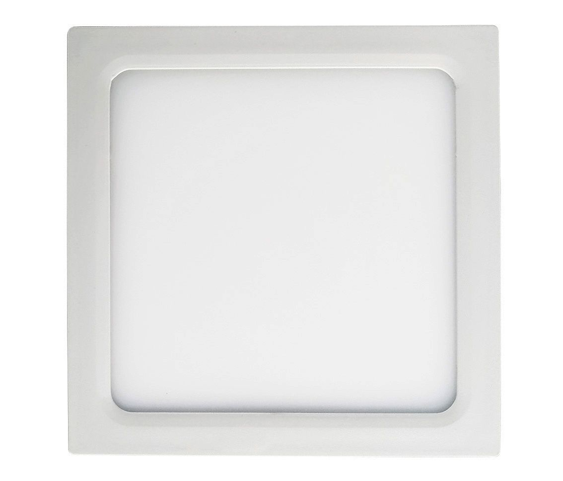 Painel Led 12w 4000k Branco Morno Sobrepor Quadrado Bivolt Eco 31378  - OUTLED ILUMINAÇÃO