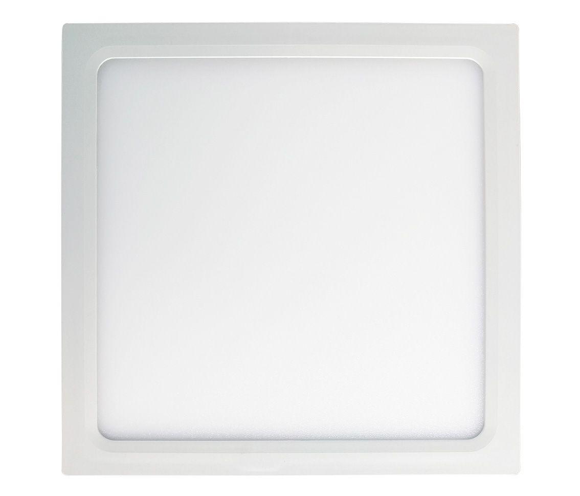 Painel Led 18w 4000k Branco Morno Sobrepor Quadrado Bivolt Eco 30470  - OUTLED ILUMINAÇÃO