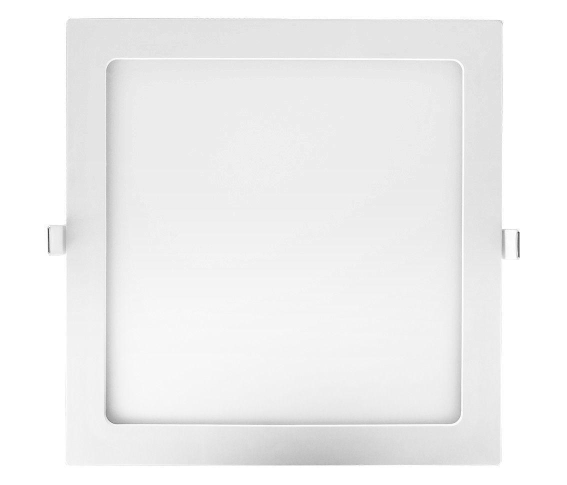 Painel Led 24w 3000k Branco Quente Embutir Quadrado Bivolt Eco 32535  - OUTLED ILUMINAÇÃO