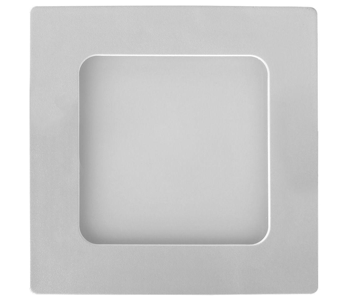 Painel Led 6w 3000k Branco Quente Sobrepor Quadrado Bivolt ECO 30791 - Opus  - OUTLED ILUMINAÇÃO