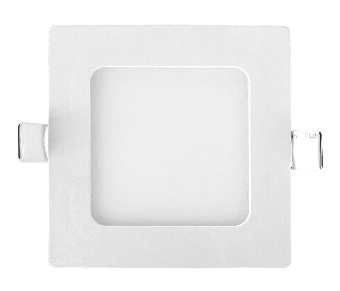 Painel Led 6w 6400k Branco Frio Embutir Quadrado Bivolt Eco 30128  - OUTLED ILUMINAÇÃO