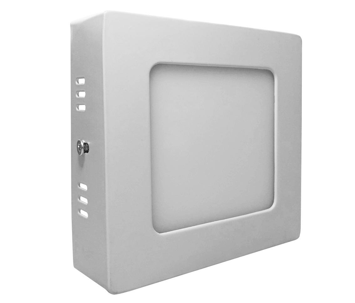 Painel Sobrepor Quadrado 6w LED 4000k Branco Morno 11x11cm ECO 30807