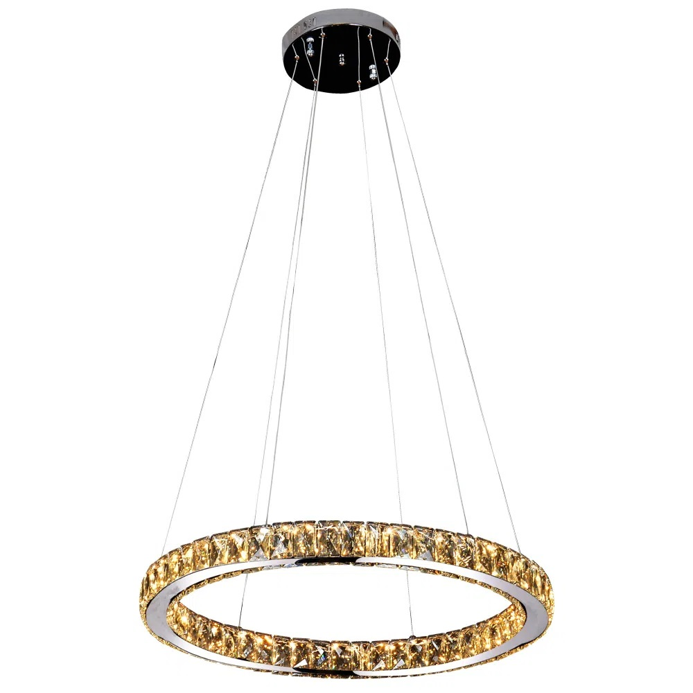 Pendente Aura Piccola 24W LED BRANCO QUENTE 3000K 60X5,5CM CR/TR - ID010C