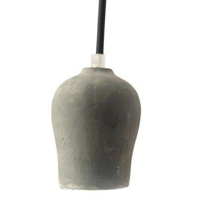 Pendente 8cm Lampada E27 HOLDER Concreto DA003P  - OUTLED ILUMINAÇÃO