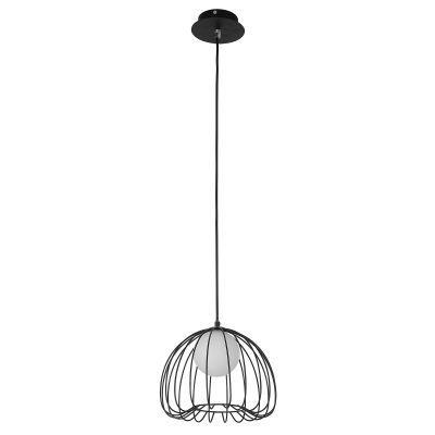 PENDENTE LAMP 25cm x 21cm  1xG9 PRETO E BRANCO ML003B