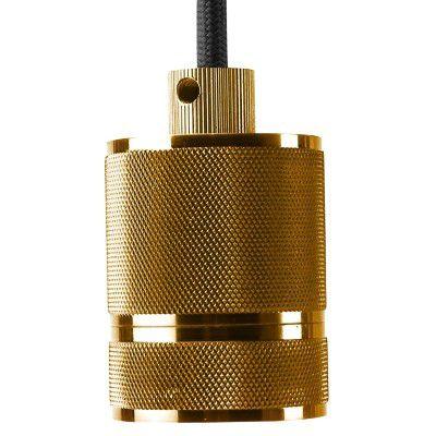 Pendente E27 Socket Retro Ouro Dourado DA002B  - OUTLED ILUMINAÇÃO