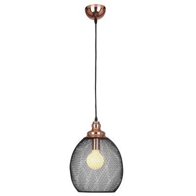 Pendente 28cm Lampada E27 XN003 Copper Cobre Preto  - OUTLED ILUMINAÇÃO