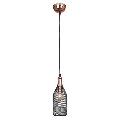 Pendente 11cm Lampada E27 XN004 Copper Cobre Preto  - OUTLED ILUMINAÇÃO