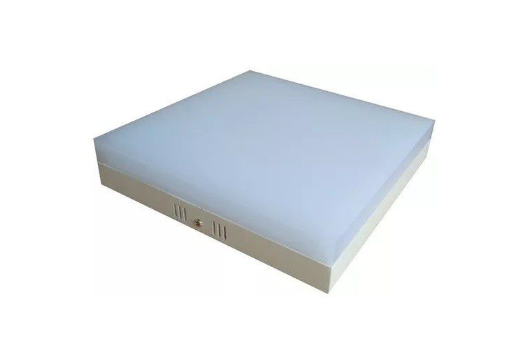 Plafon LED 12w 6000k Painel Acrílico Sobrepor Quadrado Branco Frio  - OUTLED ILUMINAÇÃO