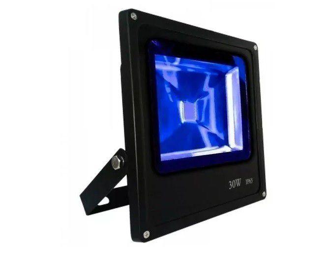 Refletor 10w Azul LED Holofote Bivolt  - OUTLED ILUMINAÇÃO