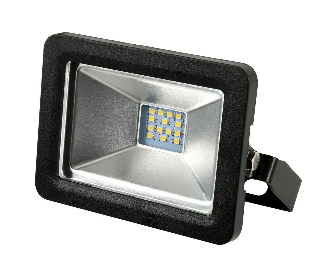 REFLETOR LED 10W 3000K BRANCO QUENTE 120° QUADRADO PRETO BIVOLT PRO 30845  - OUTLED ILUMINAÇÃO