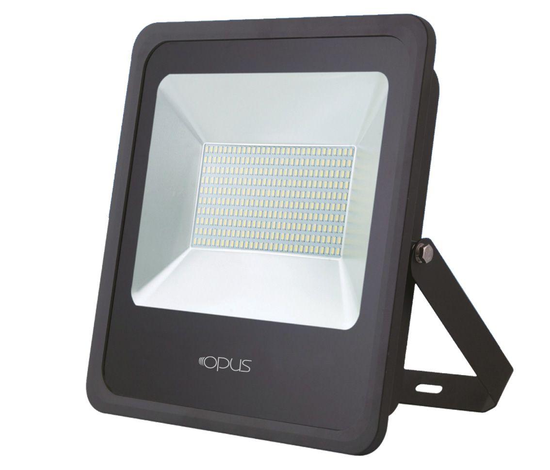 REFLETOR LED 300W 6400K BRANCO FRIO 120° QUADRADO PRETO BIVOLT PRO 32245  - OUTLED ILUMINAÇÃO
