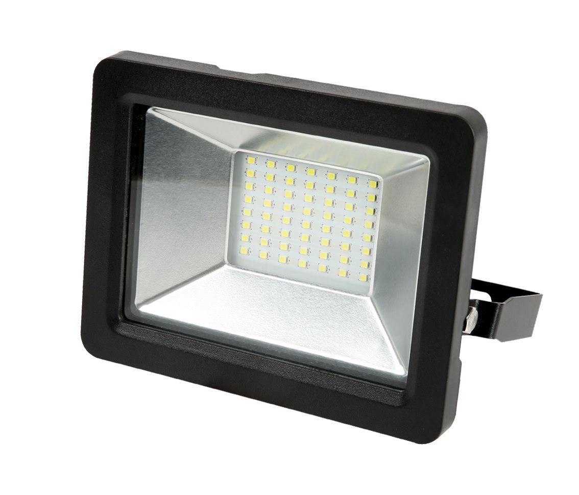 REFLETOR LED 30W 3000K BRANCO QUENTE 120° QUADRADO PRETO BIVOLT PRO 30852