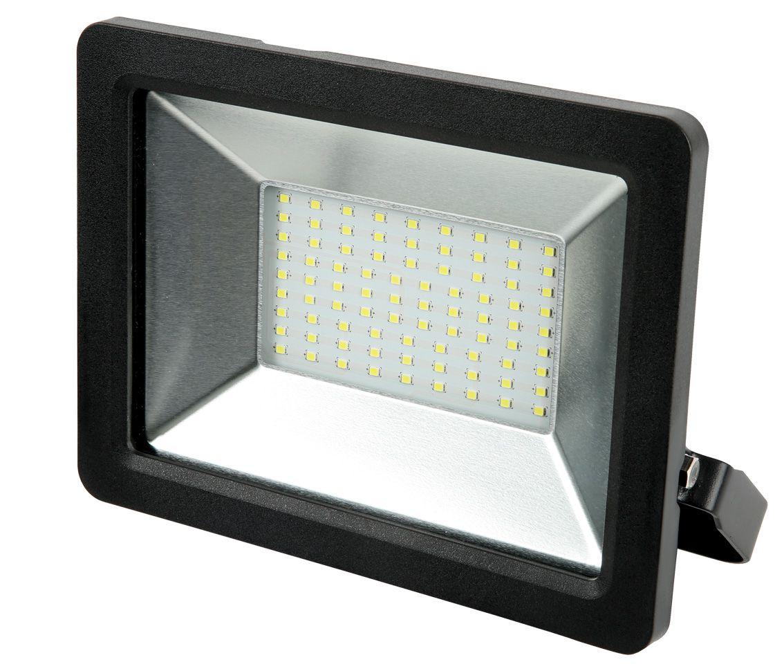 REFLETOR LED 50W 6400k BRANCO FRIO 120° QUADRADO PRETO BIVOLT PRO 30043  - OUTLED ILUMINAÇÃO