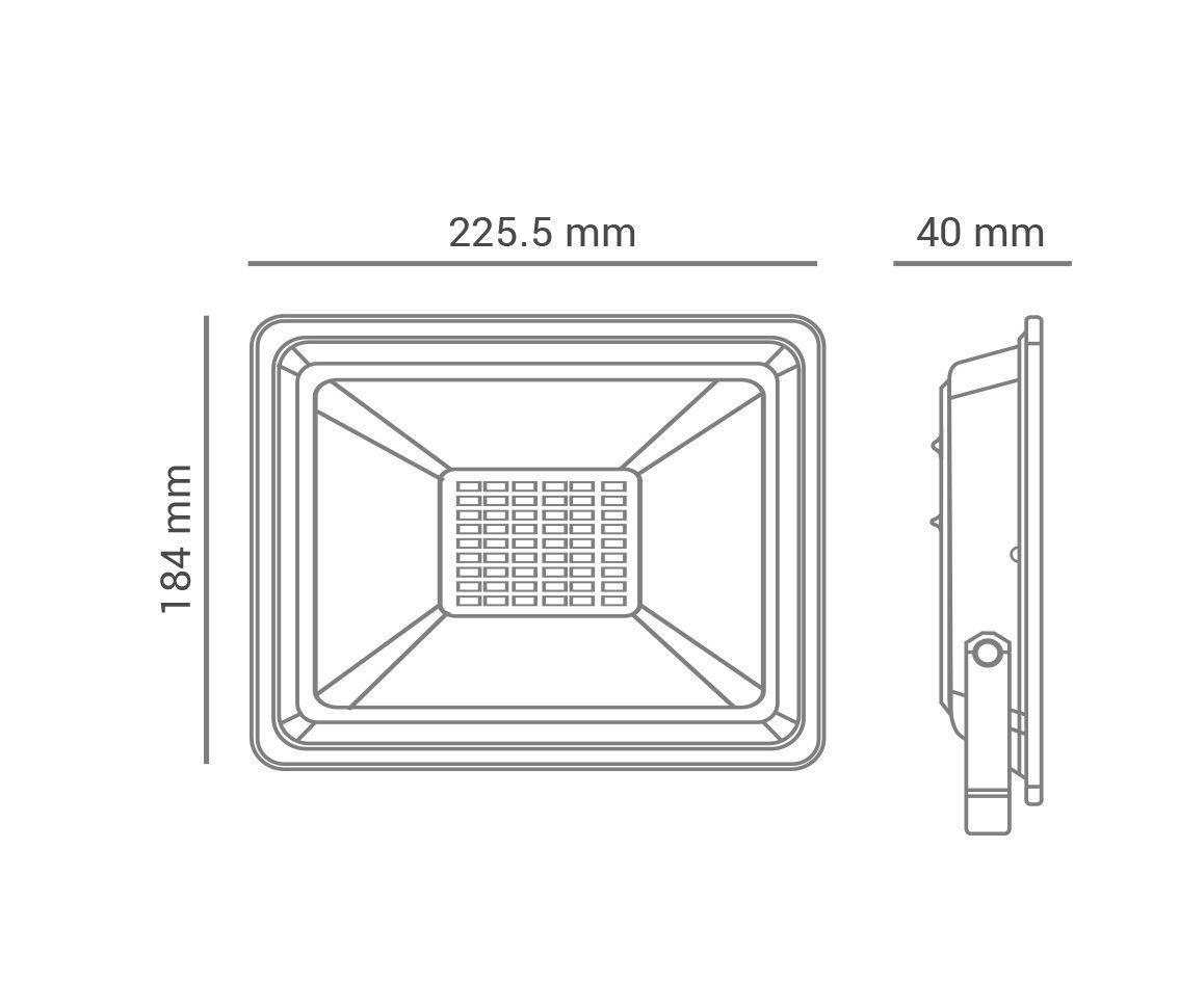 REFLETOR LED 50W VERDE 120° QUADRADO PRETO BIVOLT PRO 30890