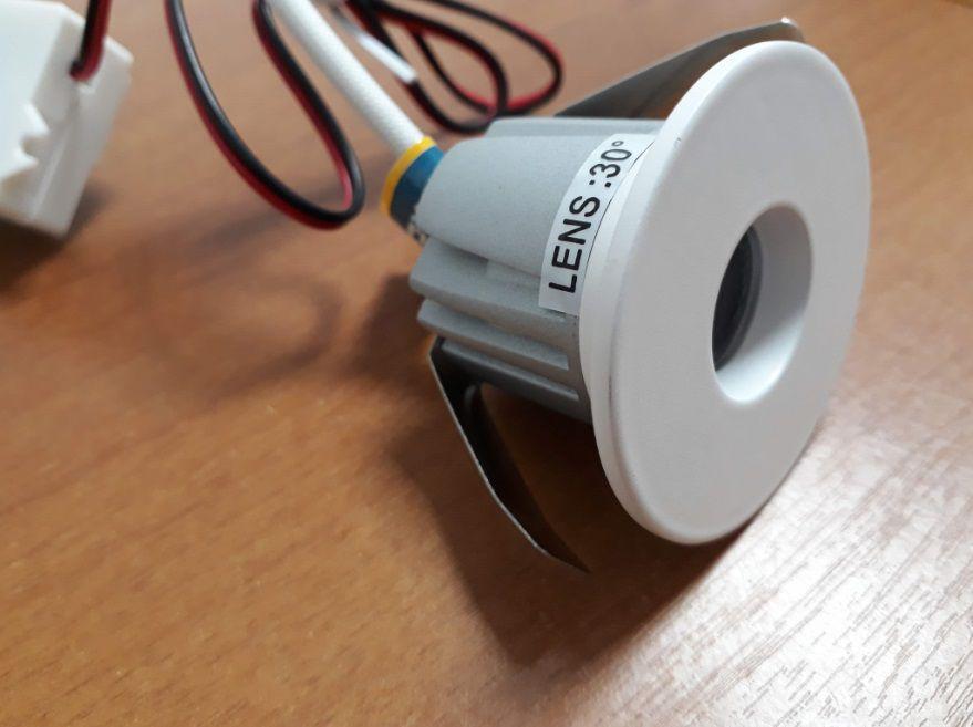 Spot LED MINI 3w 3000k Embutir Redondo Branco NS1004L FIT  - OUTLED ILUMINAÇÃO