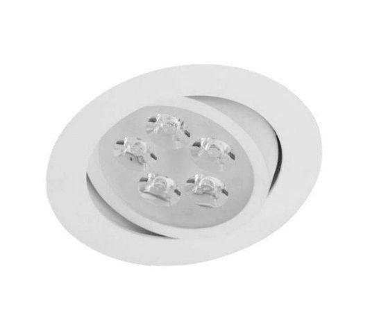 Spot 5w 3000k LED Redondo Direcionável Embutir Branco Quente  - OUTLED ILUMINAÇÃO