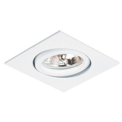 Spot AR70 Embutir Quadrado Slim Branco NS370Q