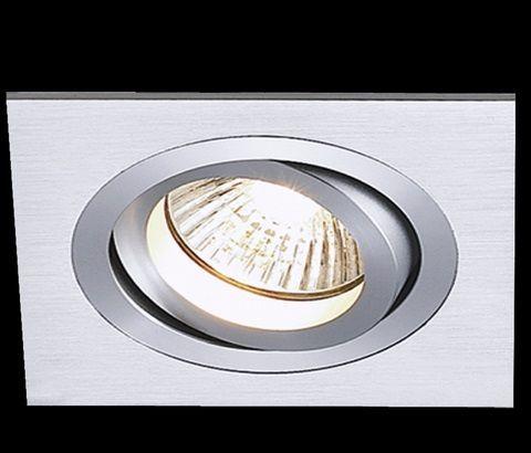 Spot Dicroica GU10 MR16 Embutir Quadrado NS5601A Escovado  - OUTLED ILUMINAÇÃO