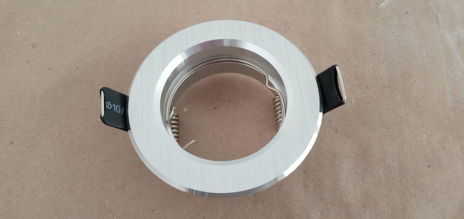 Spot Dicroica GU10 Embutir Redondo Fit Alumínio Escovado NS1000A  - OUTLED ILUMINAÇÃO