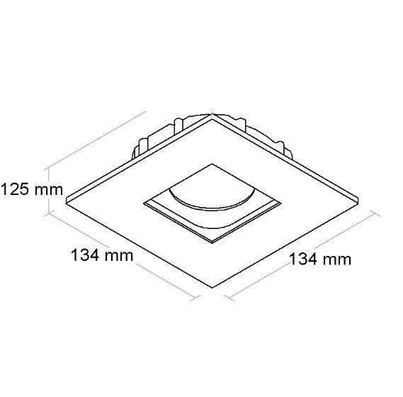 Spot PAR20 Embutir Direcional Recuado BL1223/1 Branco Fosco  - OUTLED ILUMINAÇÃO
