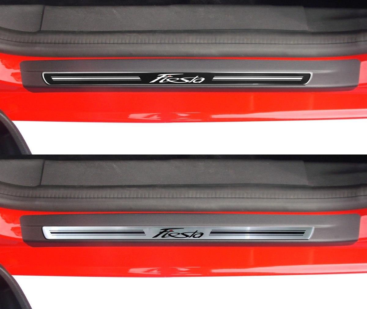 Soleira de Porta Premium Ford New Fiesta 2015 até 2018  - Só Frisos Ltda