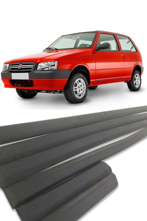 Friso Lateral Fiat Uno 4p 1995 até 2013 Modelo Fino  - Só Frisos Ltda
