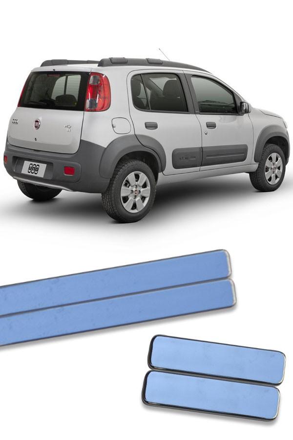 Aplique Cromado Friso Lateral Fiat Uno 2011 até 2017