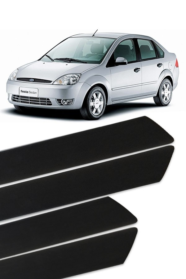 Friso Lateral Ford Fiesta 2001 até 2017  - Só Frisos Ltda
