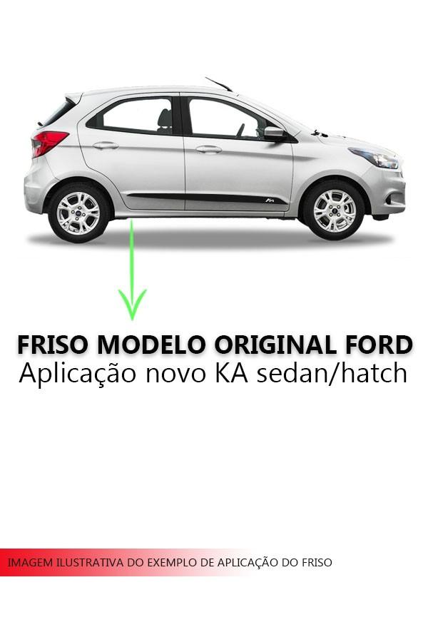 Friso Lateral Novo Ford KA Modelo Original  - Só Frisos Ltda