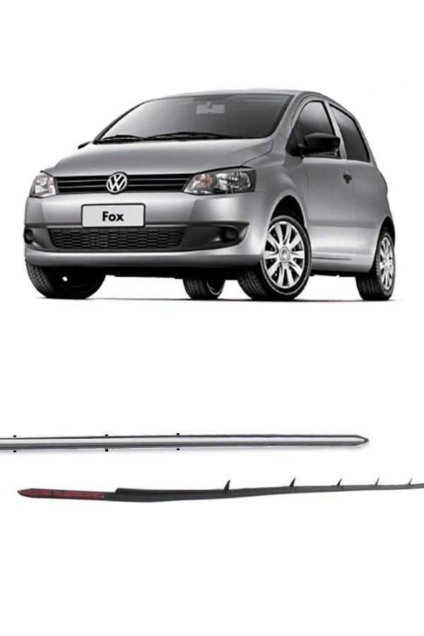 Aplique Cromado Grade Inferior Volkswagen Fox e SpaceFox 2010 até 2014  - Só Frisos Ltda