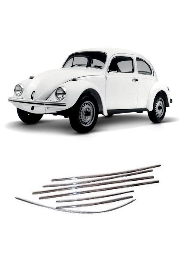 Friso Lateral Volkswagen Fusca 1971 até 1986 (fino)  - Só Frisos Ltda