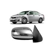 Aplique Cromado C/Pisca Retrovisor Toyota Corolla 2008 até 2014
