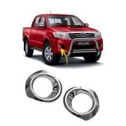 Aplique Cromado Farol de Milha Toyota Hilux 08/11
