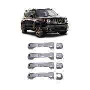 Aplique Cromado Maçaneta Jeep Renegade C/keyless e S/Keyless