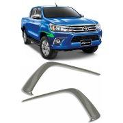 Aplique Cromado Moldura Farol de Milha Nova Toyota Hilux