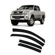 Calha de Chuva Toyota Hilux Cabine Dupla CD 4p 2005 até 2015